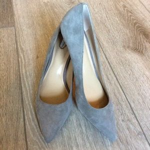 Ann Taylor Mila Suede Pumps in Iron Gray Size 6M